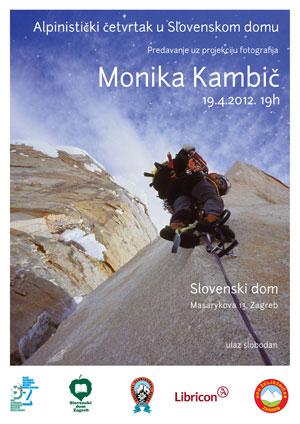Plakat Monika Kambič v Slovenskem domu, Zagreb 19.4.2012