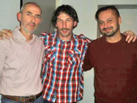 Željko Žarak, Klemen Premrl in Marko Vuković v Slovenskem domu (od leve proti desni). Foto: a.k.m.