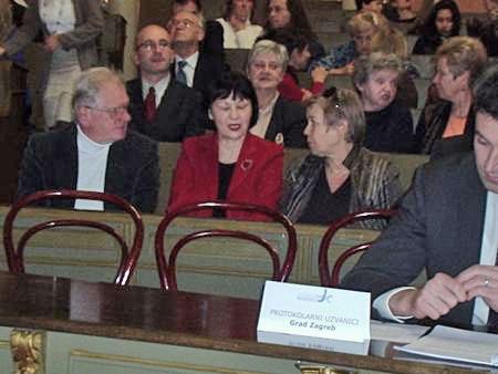 Predsednik Sveta slovenske nacionalne manjšine Mesta Zagreb Darko Šonc (prvi z leve). Foto: a.k.m.