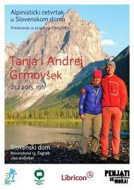 Tanja in Andrej Grmovšek, predavanje v Slovenskem domu, Zagreb 21.2.2013