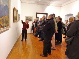 Z ogleda razstav v Galeriji Miha Maleša. Foto: akm
