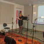 Voditeljica 1. music extreme festivala Irena Šonc