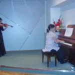 Violinistica Sausan Husein i pijanistica Renata Hil. Foto: a.k.m.