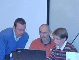 Andrej Grmovšek, Željko Žarak, Tanja Grmovšek (s lijeva nadesno). Foto: a.k.m.
