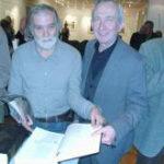 Akademik Tonko Maroević i voditelj Metropolitanske knjižnice velečasni gospodin Vladimir Magić. (s lijeva nadesno. Foto: a.k.m.)